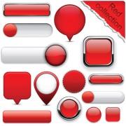 Link toSet of web glass buttons mix vector 02