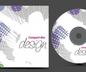 Abstract of CD Cover vector set 06