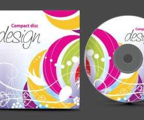 Abstract of CD Cover vector set 07