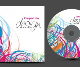 Abstract of CD Cover vector set 08