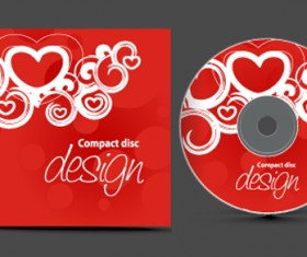Set of Creative CD cover design vector graphics 01