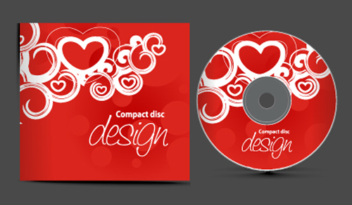 Set of Creative CD cover design vector graphics 01 ...