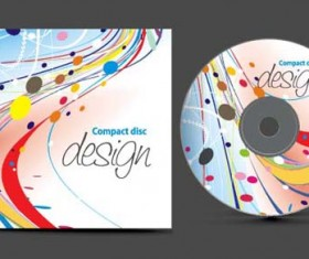 Abstract of CD Cover vector set 10