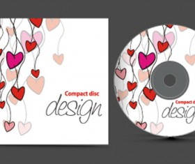 Set of Creative CD cover design vector graphics 02
