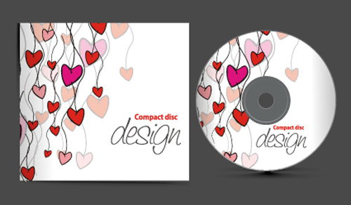 Set of Creative CD cover design vector graphics 02 ...