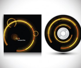 Set of Creative CD cover design vector graphics 04