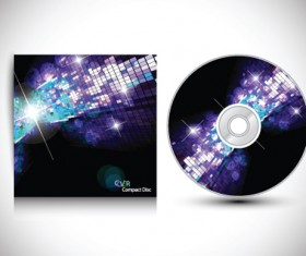 Set of Creative CD cover design vector graphics 06