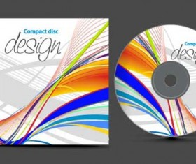 Abstract of CD Cover vector set 09