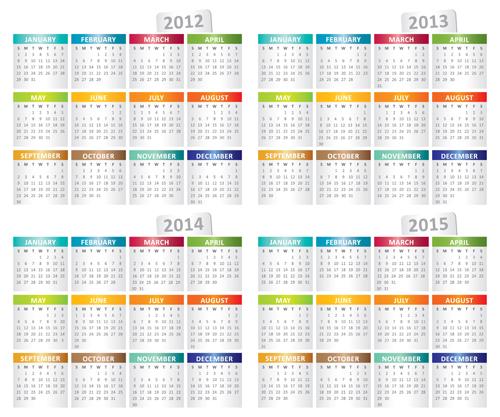 5 Year Calendar 2013 2018