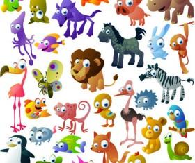 Vivid Cartoon Animals vector material 02