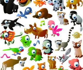Vivid Cartoon Animals vector material 03