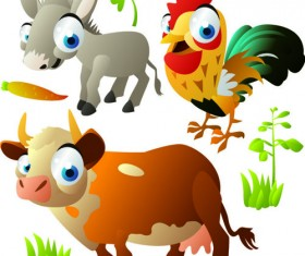 Vivid Cartoon Animals vector material 05