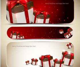 Christmas Gifts elements art vector graphic 01