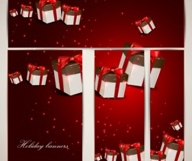 Christmas Gifts elements art vector graphic 03