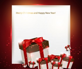 Christmas Gifts elements art vector graphic 05
