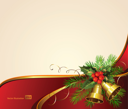 exquisite christmas backgrounds vector 03