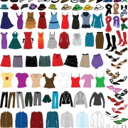 Link toDifferent clothes elements vector 02