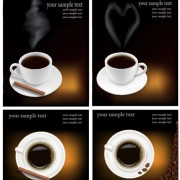 Link toSet of different coffee backgrounds vector 01