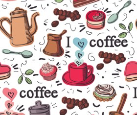 Coffee Object design elements vector material 01