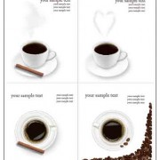Link toSet of different coffee backgrounds vector 02