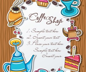 Coffee Object design elements vector material 03