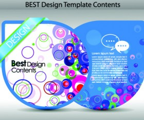 Set of Colorful Design Label vector graphics 01