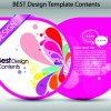 Set of Colorful Design Label vector graphics 02