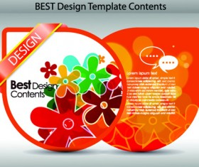 Set of Colorful Design Label vector graphics 03