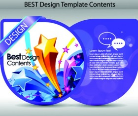 Set of Colorful Design Label vector graphics 04