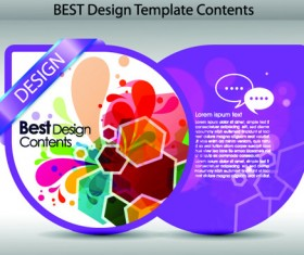 Set of Colorful Design Label vector graphics 05