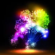 Link toColorful fireworks design vector set 04