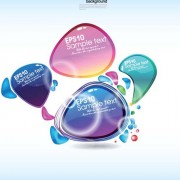 Link toElements of colorful speech bubbles vector 02