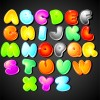 Cute Colorful alphabet vector set 01