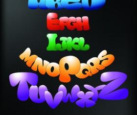 Cute Colorful alphabet vector set 02