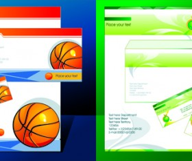 Corporate Identity Kit cover vector set 04