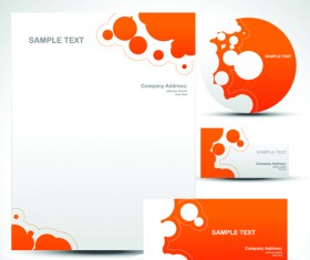 Corporate Identity Kit cover vector set 05