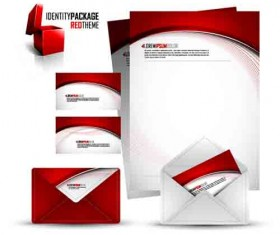 Corporate Identity Kit cover vector set 07
