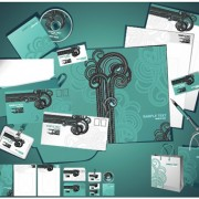 Link toCorporate identity kit cover vector set 01