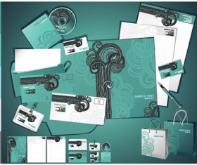 Corporate Identity Kit cover vector set 01