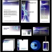 Link toCorporate identity kit cover vector set 02