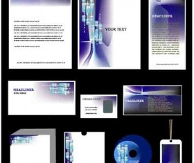 Corporate Identity Kit cover vector set 02