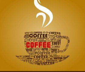 Classic of Cover Coffee elements vector 03