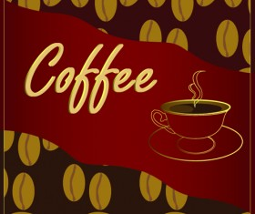 Classic of Cover Coffee elements vector 04