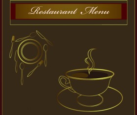 Classic of Cover Coffee elements vector 05