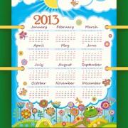 Link toCreative calendar grids 2013 design vector 02