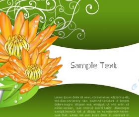 Creative Flowers and you text backgrounds vector 01