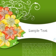 Link toCreative flowers and you text backgrounds vector 02