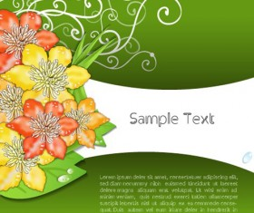Creative Flowers and you text backgrounds vector 02