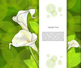 Creative Flowers and you text backgrounds vector 03