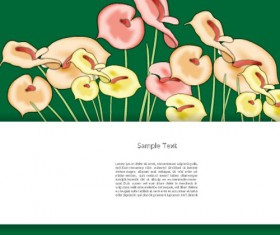 Creative Flowers and you text backgrounds vector 04